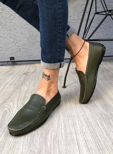 MARTINETTO Hakiki Deri Loafer Yeşil